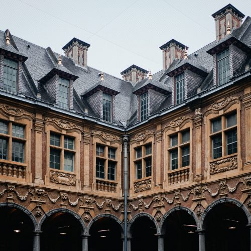 The famous historic Vieille Bourse in Lille in France